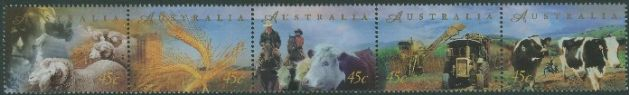 AUS SG1759a Farming strip of 5